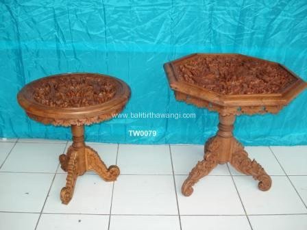 Rounded / S6 Table with carving<br>TW0079