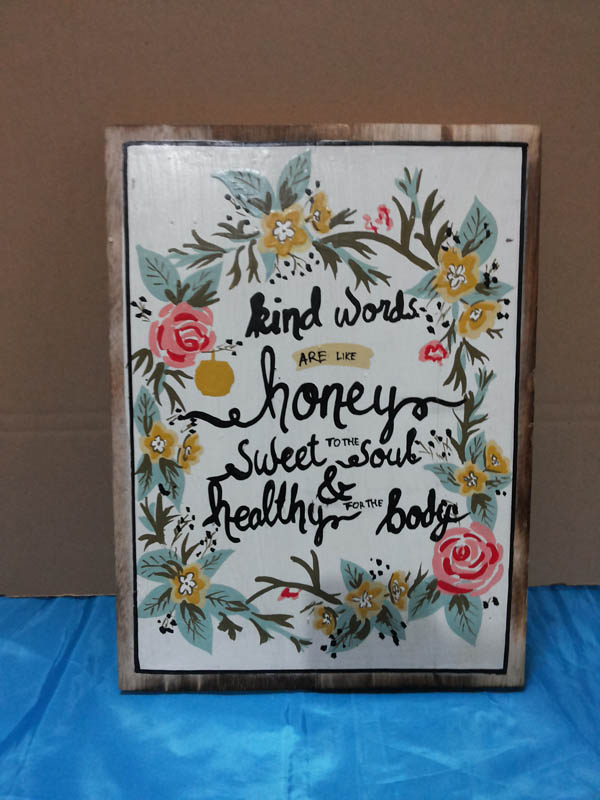 Kind words are like honey<br>WS009