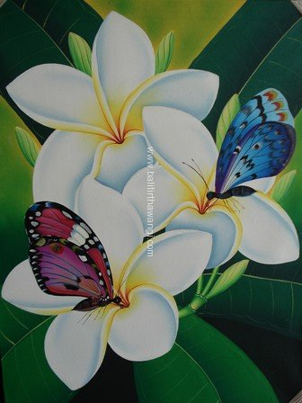 Frangipani Flower with butterfly<br>MR082